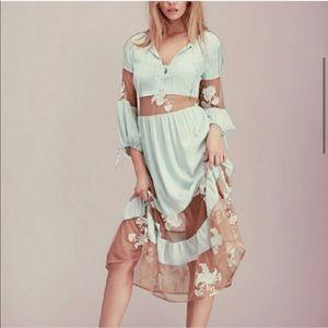 NWOT For Love and Lemons FL&L Eva Midi Dress Sz S